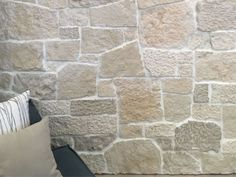 Bodega Free Form Natural Stone Walling from EcoOutdoor Exterior Wall Cladding, Stone Cladding, Stone Pillars, Brick And Stone, Camden House, Stone Wall Design, Courtyard Pool, Limestone Wall, Outdoor Stone