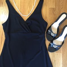 "Black Phoebe cocktail dress. Phoebe black cocktail dress.  Ships with shoes pictured, size 8.5.  40"" long. 14"" from under arm to under arm. Dresses Midi"