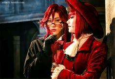 "Musical Kuroshitsuji: Lycoris that blazes the earth 2015 DVD/BD Theater Tokuten - Grell & Madam""Uehara Takuya as Grell Sutclliff AKANE LIV as Madam Red """