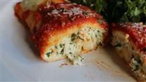 3 Cheese Manicotti , I like to add a fourth cheese to the manicotti with feta for a little pop it.
