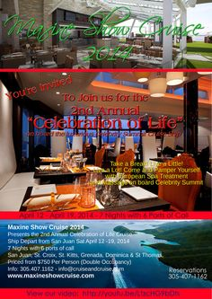 Maxine Show Cruise 2014 info.