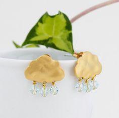Gold Cloud Earrings