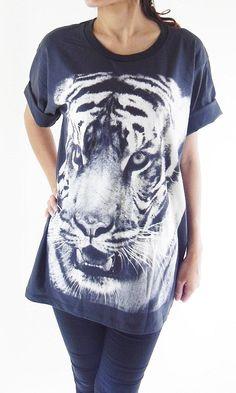 Tiger TShirt  Head Animal Shirt Animal TShirt Tiger by panoTshirt, $17.00