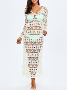 Crochet Maxi Cover Up For Swimwears | Psychedelic Monk