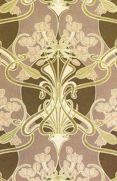 Rene Beauclair.  Art nouveau design on textiles.
