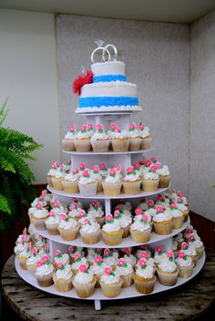 Wedding cake/cupcakes  This is something like I am doing for my wedding