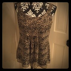 """Cute Animal Print Tank Brand Spense. Size M. 100% polyester. Machine wash gentle cycle. Lined. Bust 18.5"""" laying flat. 25.5"""" length shoulder to hem. Spense Tops Tank Tops"""