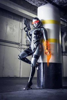 Crystal Graziano as EDI (Mass Effect)