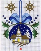 cross stitch christmas bell