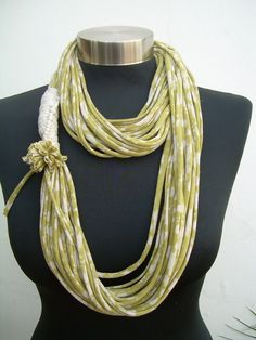 spring summerolive wash colored-Recycled fabric scarf necklac-loop scarf- infinity scarf-fall fashion-elegant long scarf-womens scarves