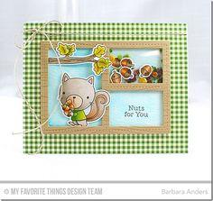 Harvest Buddies Stamp Set and Die-namics, Whimsical Woodgrain Background, Blueprints 29 Die-namics - Barbara Anders  #mftstamps