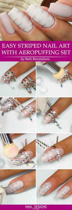 Super Easy Aeropuffing Nail Art Tutorials To Do At Home ❤️ Easy Striped Nail Art With Aeropuffing Set ❤️ Aeropuffing nail art is the new trend, and there is no wonder why! Apart from the fact that it looks absolutely gorgeous, it is easy to come up with even if you are the beginner at nail art. https://naildesignsjournal.com/aeropuffing-nail-art/ #naildesignsjournal #nails