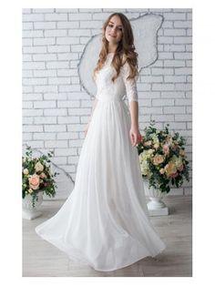 A-linie Modische Schöne Brautkleider aus Chiffon