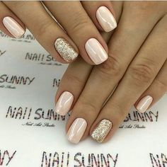 Here's a collection of 35 of the best ideas for your wedding nails. - Here's a collection of 35 of the best ideas for your wedding nails.nails for spring and summer wedding; Cute Nails, Pretty Nails, Pretty Eyes, Easy Nails, Pretty Makeup, Bridesmaids Nails, Wedding Nails Design, Gold Wedding Nails, Ivory Wedding