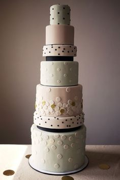 Confetti-themed wedding cake by Charm City Cakes
