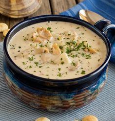 Sopa de pescado y almeja; Nueva Inglaterra.