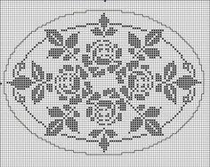 Oval 04 | Free chart for cross-stitch, filet crochet | gancedo.eu
