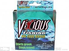 Vicious No-Fade Braid, Moss Green, has zero stretch to deliver superior bite detection and hooksets.   Smooth casting, no stretch, color doesn't fade or come off on your hand, abrasion resistance is unlike any braid I have used.