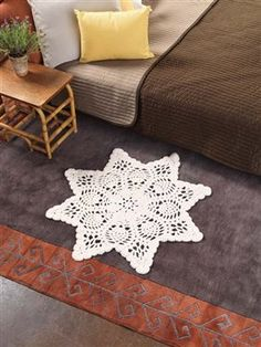Crochet lace doilies make great rugs too! Chunky Doily Rug - Media - Crochet Me