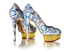 Step Up! - Marilyn Minter Charlotte Olympia Shoe