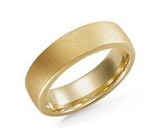 Matte Wedding Ring in 18k Yellow Gold