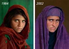 On a Left: Afghan girl by Steve McCurry. *Peshawar, Afghan Girl at Nasir Bagh refugee camp. Age: years old. Steve Mccurry, People Photography, Portrait Photography, Famous Photography, Beautiful Eyes, Beautiful People, Beautiful Women, National Geographic Cover, Afghan Girl