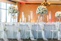 Chic White Wedding Reception| Bella Collina | Concept Photography | Vangie's Events of Distinction