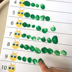 Fingerprint Counting Printables for Spring - Preschool activities - Counting Activities, Toddler Learning Activities, Spring Activities, Number Activities, Spring Preschool Theme, Activities For 4 Year Olds, Preschool Reading Activities, Aba Therapy Activities, Kindergarten Math Activities