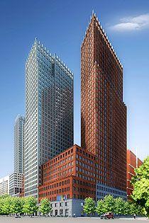 Ministerie van BKZ (rood) en Veiligheid & Justitie (wit) nieuwbouw   Office Building Dutch Governement   Rijksgebouwendienst