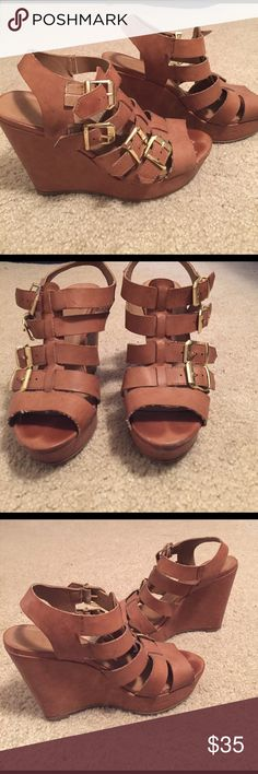 Madden girl wedges Good condition! Madden Girl Shoes Wedges