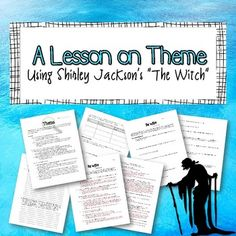 """A Lesson on Theme: Using Shirley Jackson's """"The Witch"""" Middle School Classroom, High School Students, Teaching Activities, Teaching Writing, Essay Writing Tips, Writing A Book, Sign Language, Language Arts"""