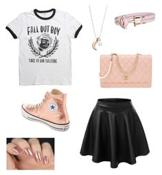 Untitled #2 by radioactivenovas on Polyvore featuring polyvore, moda, style, Converse, Chanel, Paul Hewitt, ChloBo, fashion and clothing