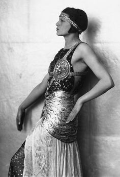 She would still dress like an Egyptian Flapper sometimes!!  Marion Wulz, donning Egyptian costume, circa 1920s.