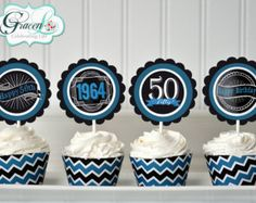 Birthday Cupcake Toppers Chalkboard by GracenLDesigns on Etsy 40th Birthday Cupcakes, 50th Birthday Party Favors, 50th Birthday Decorations, 30th Birthday, Surprise Birthday, 50th Party, Birthday Ideas, Birthday Chalkboard, Chalkboard Art