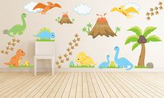 Kids Room Wall Decals Dinosaur Wall Decal Dinosaur by YendoPrint