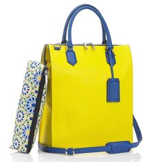 Mark Giusti - Granada All Leather Shopper Bag ($970) ❤ liked on Polyvore featuring bags, handbags, tote bags, yellow leather tote, leather tote, shopping bag, shopper tote bag and leather tote handbags
