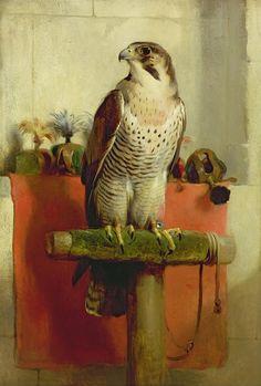 Edwin Henry Landseer, R.A. (London 1802-1873) - Falcon, oil on canvas, 1837.