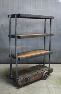 Small Factory Cart Shelf Unit @ ClevelandArt LA
