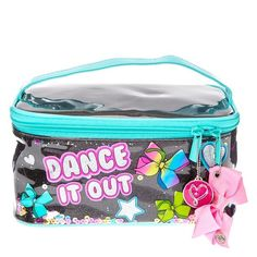 """Everyone knows that doing makeup is way more fun when you have a cool cosmetic bag! Make your beauty routine a little more glam with this glittering cosmetic bag from JoJo Siwa featuring one of her signature slogans: """"Dance it Out! Jojo Siwa Bows, Jojo Bows, Jojo Siwa Outfits, Nickelodeon Girls, Glitzy Glam, Jojo Siwa Birthday, Claire's Accessories, Dance It Out, Dance Gifts"""