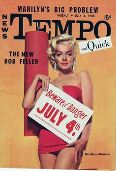 missingmarilyn:  Marilyn Monroe on the cover of Tempo July 4, 1955.