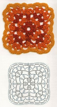 Crochet square chart pattern~k8~