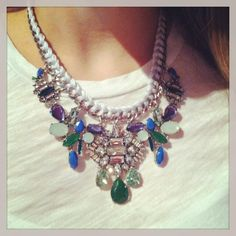 Retro Riviera Necklace from Chloe and Isabel.  www.chloeandisabel.com/boutique/meghanmeister  #glam #retro #bling #blue #summer #chloeandisabel