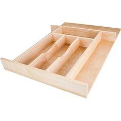 Hardware Resources Inch Wide x 22 Inch Deep Cutlery Tray Maple Drawer Organizers Cutlery Organizers Wood Drawers, Kitchen Drawers, Kitchen Storage, Kitchen Drawer Inserts, Kitchen Cupboard, Closet Storage, Kitchen Organization, Base Cabinets, Wood Cabinets