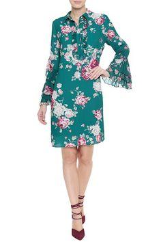 Vestido Crepe Floral Tracy