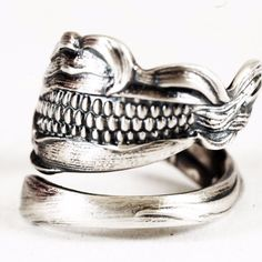 Corn Ring Spoon Ring Sterling Silver Corn Jewelry by Spoonier