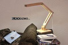 Wooden LED Desk Lamp DL013 от blackgizmo на Etsy