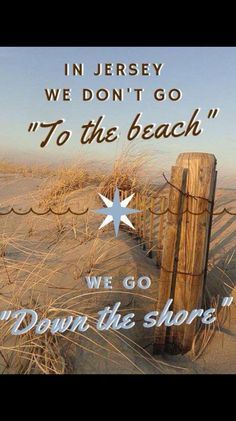 "IN NEW JERSEY, WE DON'T ""GO TO THE BEACH""...WE GO.... - http://www.razmtaz.com/in-new-jersey-we-dont-go-to-the-beach-we-go/"