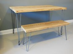 Reclaimed Urban Wood Table With Hairpin Legs. Built By Hand. Guaranteed For…