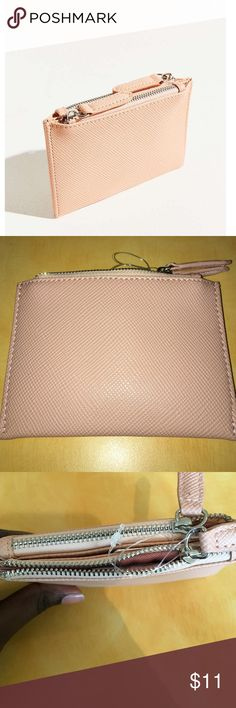 BDG Double Zip Cardholder Brand new with tags. Neutral pink super cute! Urban Outfitters Bags Wallets
