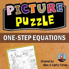 One-Step Equations Picture Puzzle ActivityThis FREE one-step equations ...